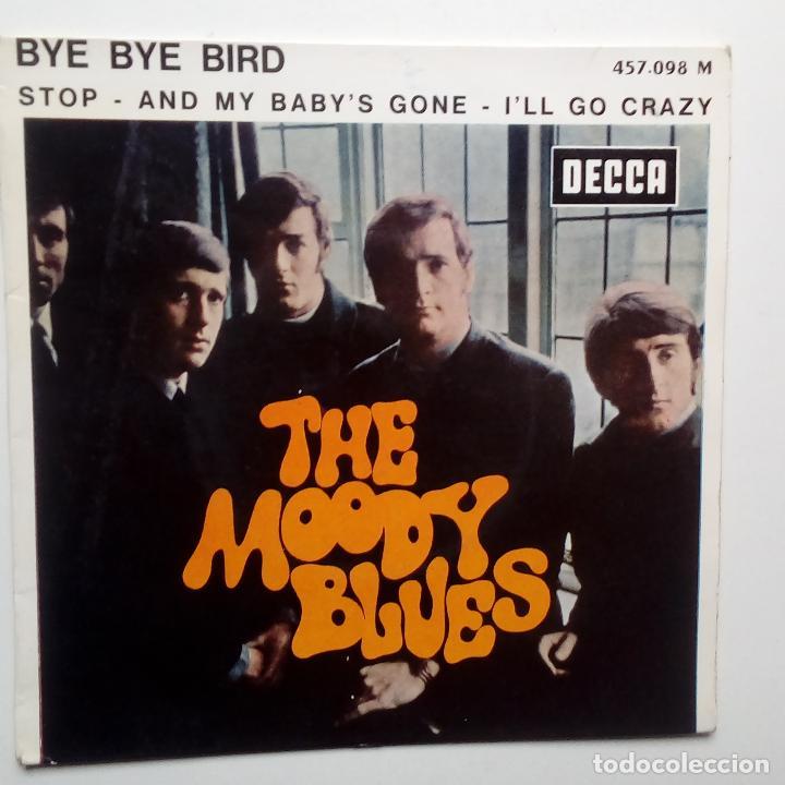 THE MOODY BLUES - BYE BYE BIRD- FRENCH EP 1966- EN BUEN ESTADO. (Música - Discos de Vinilo - EPs - Pop - Rock Internacional de los 50 y 60)