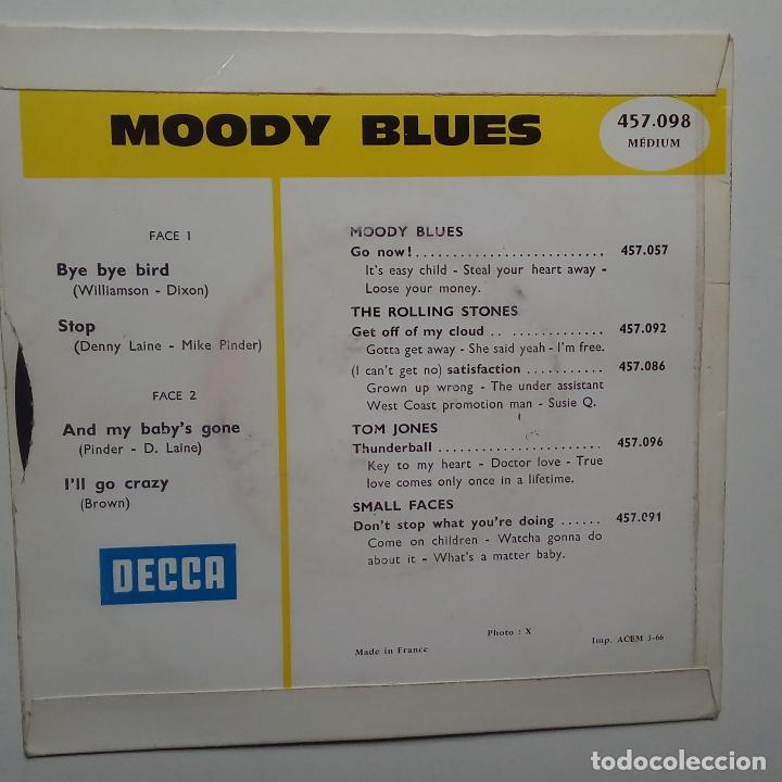 Discos de vinilo: THE MOODY BLUES - BYE BYE BIRD- FRENCH EP 1966- EN BUEN ESTADO. - Foto 2 - 104873483