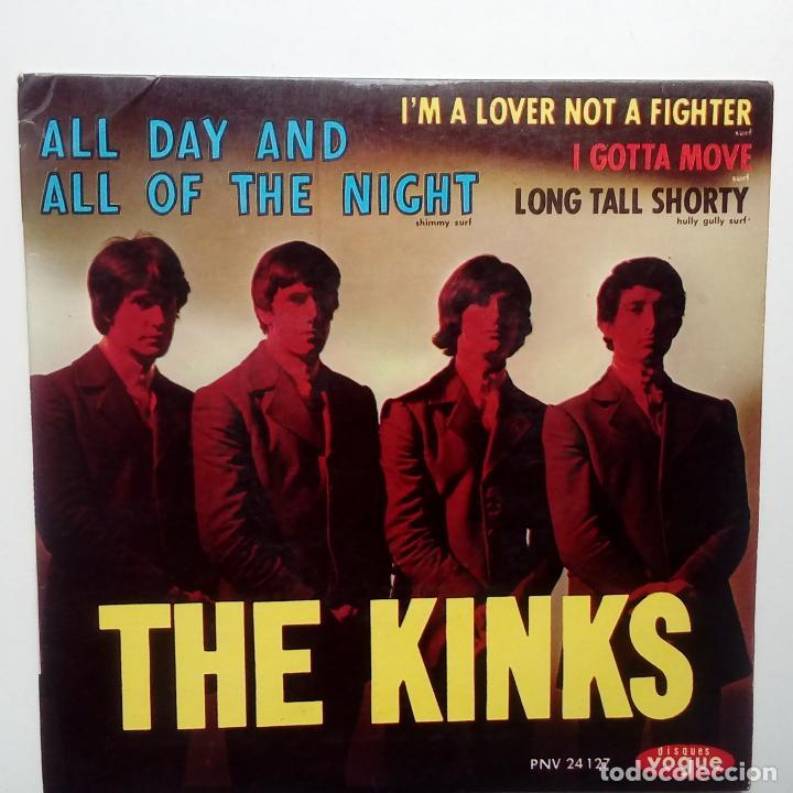 THE KINKS- ALL DAY AND ALL OF THE NIGHT - FRENCH EP 1964 + LENGÜETA- EN BUEN ESTADO. (Música - Discos de Vinilo - EPs - Pop - Rock Internacional de los 50 y 60)
