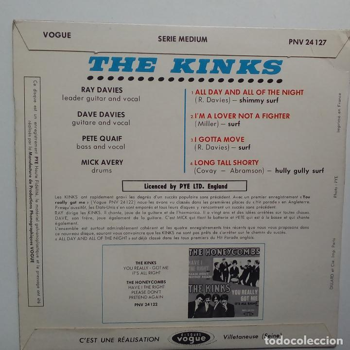 Discos de vinilo: THE KINKS- ALL DAY AND ALL OF THE NIGHT - FRENCH EP 1964 + LENGÜETA- EN BUEN ESTADO. - Foto 2 - 104875623