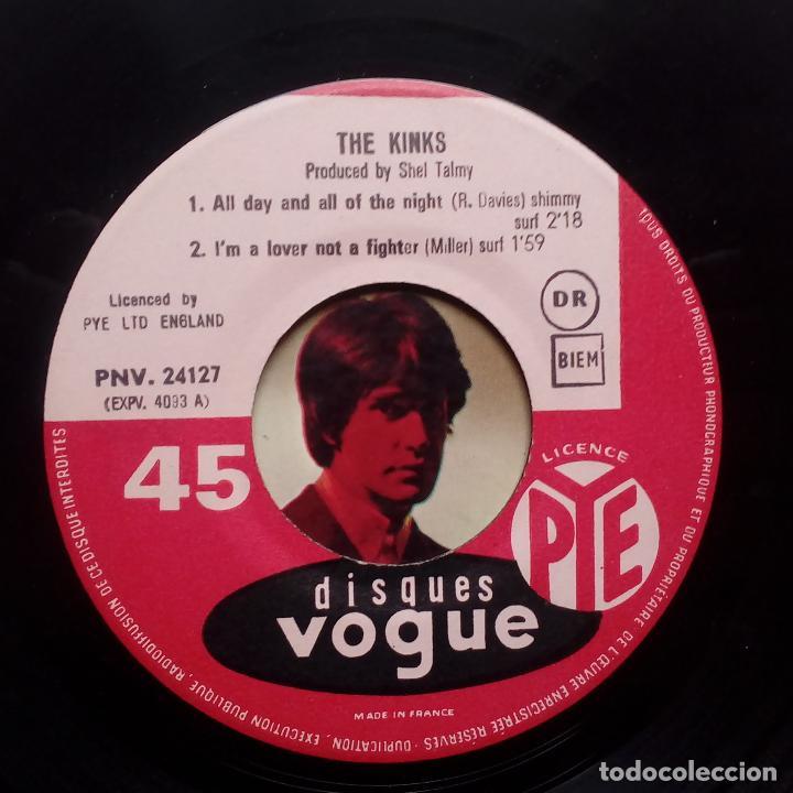 Discos de vinilo: THE KINKS- ALL DAY AND ALL OF THE NIGHT - FRENCH EP 1964 + LENGÜETA- EN BUEN ESTADO. - Foto 3 - 104875623