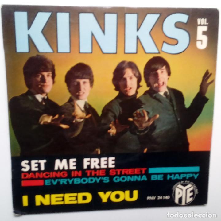 THE KINKS- VOL. 5- DANCING IN THE STREE - FRENCH EP 1965 + LENGÜETA- PYE RECORDS. (Música - Discos de Vinilo - EPs - Pop - Rock Internacional de los 50 y 60)