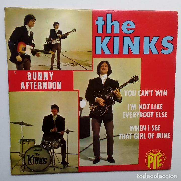 THE KINKS SUNNY AFTERNON - FRENCH EP 1966 + LENGÜETA- PYE RECORDS. (Música - Discos de Vinilo - EPs - Pop - Rock Internacional de los 50 y 60)