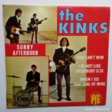 Discos de vinilo: THE KINKS SUNNY AFTERNON - FRENCH EP 1966 + LENGÜETA- PYE RECORDS.. Lote 104876691