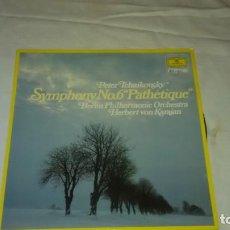 Discos de vinilo: PETER TCHAIKOVSKY SYMPHONY NO. 6 PATHÉTIQUE,BERLIN PHILHARMONIC ,HERBERT VON KARAJAN.1981. Lote 104889047
