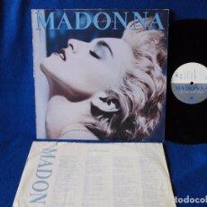 Discos de vinilo: MADONNA - TRUE BLUE - LP SIRE RECORDS 1986 - CON INNER SLEEVE CON LETRAS DE LAS CANCIONES. Lote 104892563