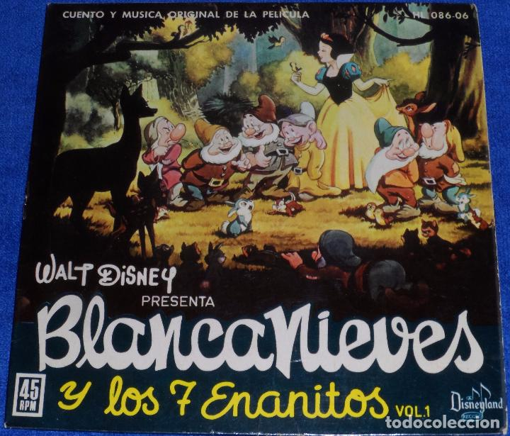 BLANCANIEVES Y LOS SIETE ENANITOS - HISPAVOX - WALT DISNEY PRODUCTIONS (1969) (Música - Discos - Singles Vinilo - Música Infantil)