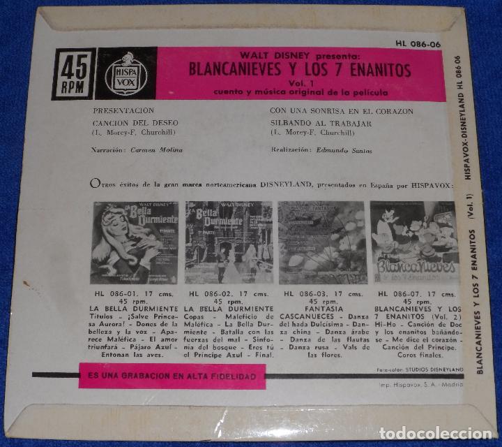 Discos de vinilo: Blancanieves y los siete enanitos - Hispavox - Walt Disney Productions (1969) - Foto 2 - 104904507