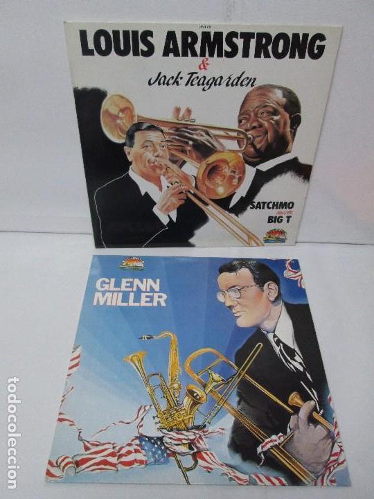 GLENN MILLER. LOUIS ARMSTRONG AND JACK TEAGARDEN. 2 LP VINILO. GIANTS OF JAZZ. VER FOTOGRAFIAS (Música - Discos - Singles Vinilo - Jazz, Jazz-Rock, Blues y R&B)