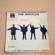 Discos de vinilo: BEATLES - EP HELP DOBLE REFERENCIA. Lote 104909028