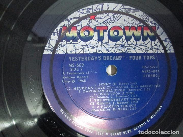 Discos de vinilo: FOUR TOPS YESTERDAY´S DREAMS. LP VINILO. MOTTOWN RECORDS 1968. VER FOTOGRAFIAS - Foto 6 - 104909231