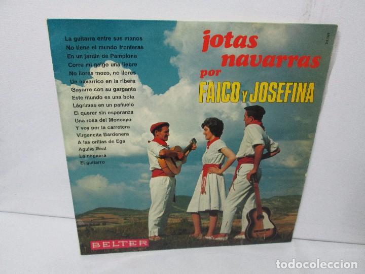 JOTAS NAVARRAS POR FAICO Y JOSEFINA. LP VINILO. BELTER 1967. VER FOTOGRAFIAS (Música - Discos - Singles Vinilo - Étnicas y Músicas del Mundo)