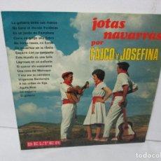 Discos de vinilo: JOTAS NAVARRAS POR FAICO Y JOSEFINA. LP VINILO. BELTER 1967. VER FOTOGRAFIAS. Lote 104911111