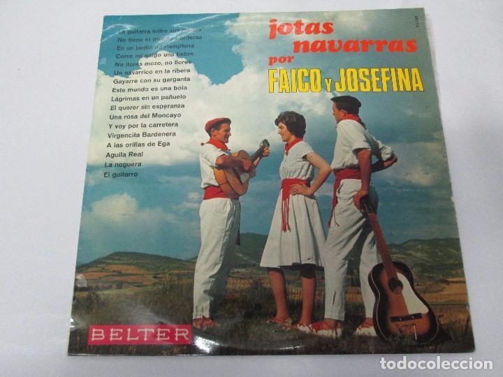 Discos de vinilo: JOTAS NAVARRAS POR FAICO Y JOSEFINA. LP VINILO. BELTER 1967. VER FOTOGRAFIAS - Foto 2 - 104911111