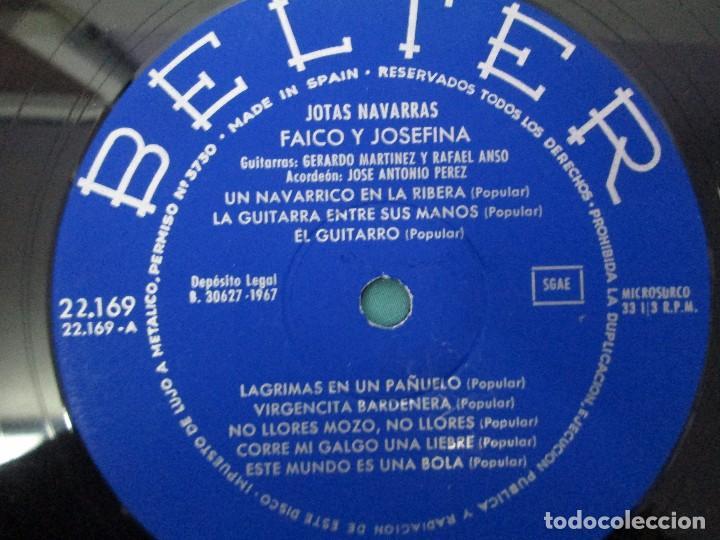 Discos de vinilo: JOTAS NAVARRAS POR FAICO Y JOSEFINA. LP VINILO. BELTER 1967. VER FOTOGRAFIAS - Foto 4 - 104911111
