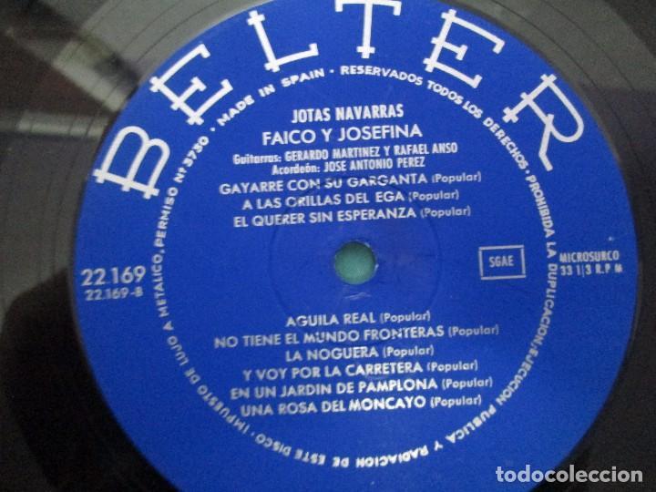 Discos de vinilo: JOTAS NAVARRAS POR FAICO Y JOSEFINA. LP VINILO. BELTER 1967. VER FOTOGRAFIAS - Foto 6 - 104911111