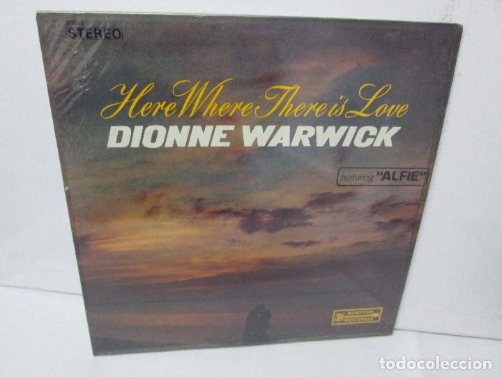DIONNE WARWICK. HERE WHERE THERE IS LOVE. LP VINILO. SCEPTER RECORDS. (Música - Discos - Singles Vinilo - Jazz, Jazz-Rock, Blues y R&B)