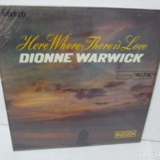 Discos de vinilo: DIONNE WARWICK. HERE WHERE THERE IS LOVE. LP VINILO. SCEPTER RECORDS. . Lote 104911499