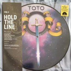 Discos de vinilo: SINGLE TOTO HOLD THE LINE PICTURE DISC 10 PULGADAS. Lote 104918499