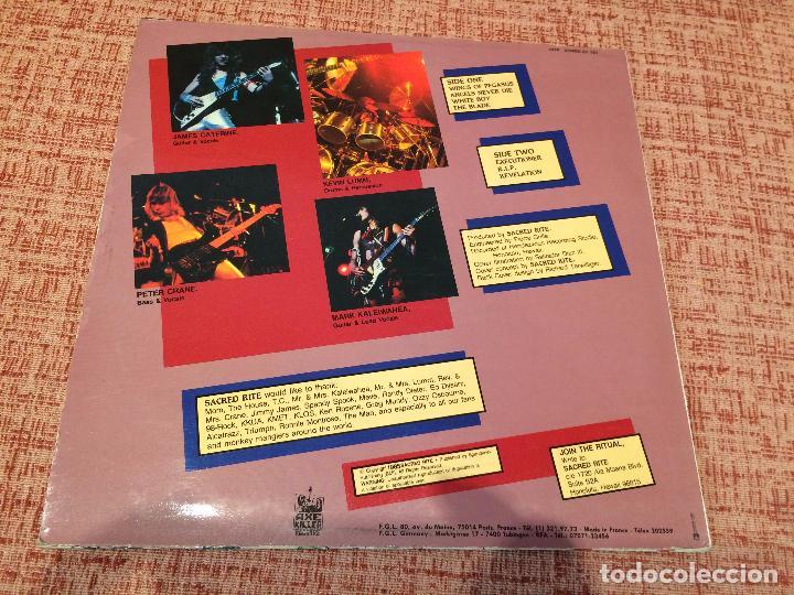 Discos de vinilo: SACRED RITE -SACRED RITE- (1985) LP DISCO VINILO - Foto 4 - 104921139