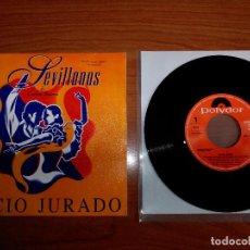 Discos de vinilo: ROCIO JURADO SEVILLANAS DE CARLOS SAURA SINGLE PROMO 7' DE LA BANDA SONORA - PACO DE LUCIA - CAMARON. Lote 104942887