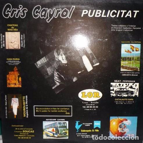 CRIS CAYROL : PUBLICITAT CANÇO CATALANA DE CATALUNYA NORD, RARO 1987 (Música - Discos - LP Vinilo - Cantautores Internacionales)