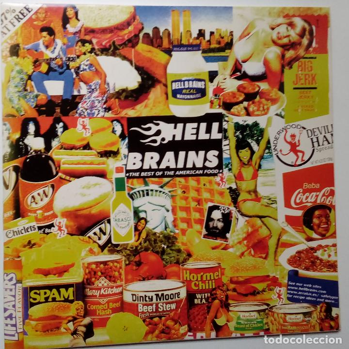 HELL BRAINS- THE BEST OF AMERICAN FOOD- SPAIN LP 1999 + INSERT- COMO NUEVO.IMPECABLE. (Música - Discos - LP Vinilo - Punk - Hard Core)