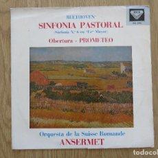 Discos de vinilo: RARE LP BEETHOVEN ANSERMET SINFONIA PASTORAL PROMETEO ORQUESTA DE LA SUISSE ROMANDE DECCA SXL 2193. Lote 104952047