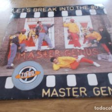 Discos de vinilo: MASTER GENIUS. LET´S BREAK INTO THE 80´S MAXI. Lote 104958523