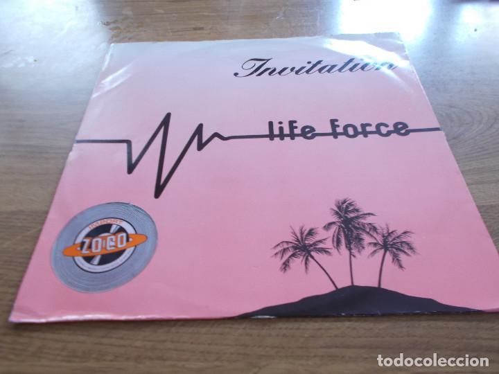 LIFE FORCE. INVITATIÓN.MAXI (Música - Discos de Vinilo - Maxi Singles - Pop - Rock - New Wave Internacional de los 80)