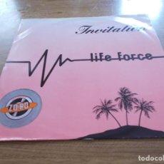 Discos de vinilo: LIFE FORCE. INVITATIÓN.MAXI. Lote 104961275