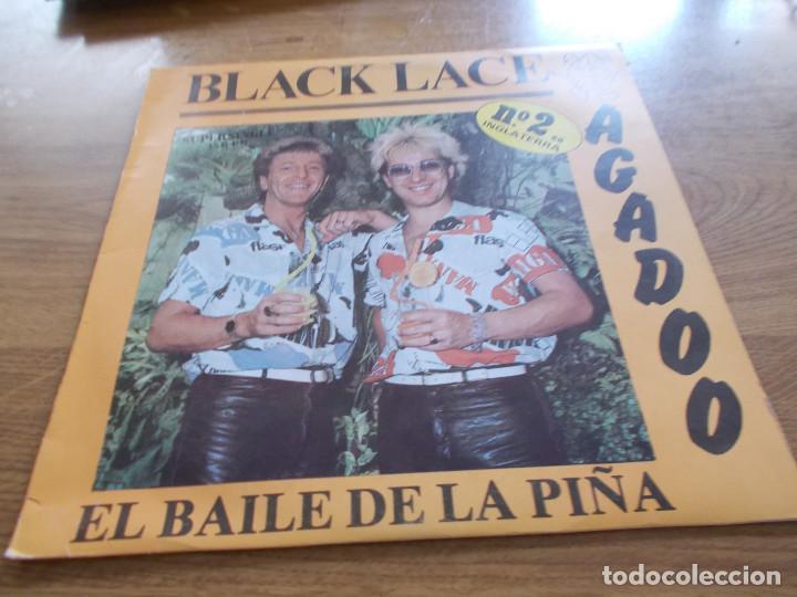 BLACK LACE. AGADOO. EL BAILE DE LA PIÑA. (Música - Discos de Vinilo - Maxi Singles - Pop - Rock - New Wave Internacional de los 80)