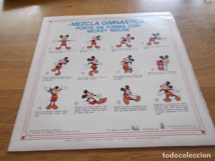 Discos de vinilo: EJERCICIOS CON MICKEY MOUSE.MEZCLA GIMNASTICA, PONTE EN FORMA CON MICKEY MOUSE - Foto 2 - 104963267