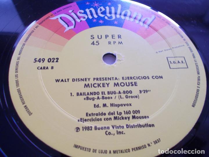 Discos de vinilo: EJERCICIOS CON MICKEY MOUSE.MEZCLA GIMNASTICA, PONTE EN FORMA CON MICKEY MOUSE - Foto 4 - 104963267