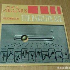 Discos de vinilo: THE BAKELITE AGE -THE ART OF.... EVIL GENIUS (LP BANG!-LP21, LIMITED /500, CARPETA DOBLE) PRECINTADO. Lote 104976159