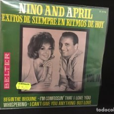 Discos de vinilo: NINO AND APRIL - BEGIN THE BEGUINE + 3 - EP. Lote 104976328