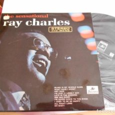 Discos de vinilo: RAY CHARLES-LP THE SENSATIONAL RAY CHARLES- 1965-NUEVO. Lote 104976799