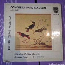Discos de vinilo: J. S. BACH - CONCIERTO PARA CLAVECÍN. ISOLDE AHLGRIMM. Lote 104978295