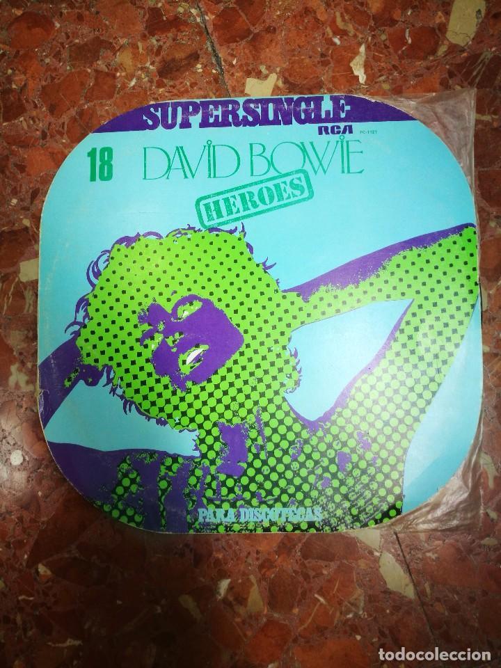 SUPERSINGLE DAVID BOWIE HEROES MUY RARO 1977 (Música - Discos - Singles Vinilo - Pop - Rock - Extranjero de los 70)