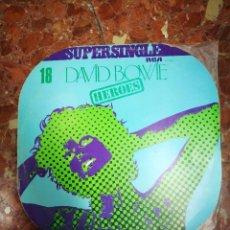 Discos de vinilo: SUPERSINGLE DAVID BOWIE HEROES MUY RARO 1977. Lote 104981811