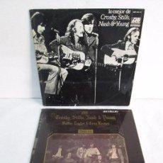 Discos de vinilo: CROSBY, STILLS, NASH & YOUNG. LO MEJOR. DEJA VU. 2 LP VINILO. ATLANTIC. VER FOTOGRAFIAS. Lote 105025875
