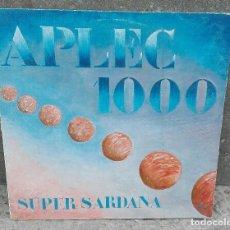 Discos de vinilo: APLEC 1000 SUPER SARDANA *** COBLES MEDITERRÀNIA *** LA PRINCIPAL DE LLOBREGAT. Lote 105039239
