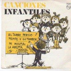 Discos de vinilo: CANCIONES INFANTILES - EL BURRO PERICO +3 - EP PHILIPS 1969 PROMOCIONAL. Lote 105059151