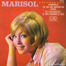 Discos de vinilo: MARISOL - EP SINGLE VINILO 7'' - CABRIOLA + 3 - EDITADO EN FRANCIA POR CID - AÑO1965. Lote 105076699
