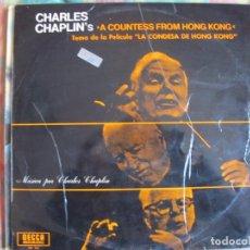 Discos de vinilo: LP - LA CONDESA DE HONG KONG - CHARLES CHAPLIN (ORIGINAL FILM SOUNDTRACK) (SPAIN, DECCA 1966). Lote 105109871