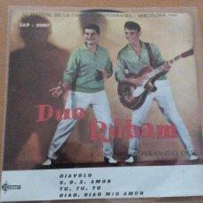 Discos de vinilo: DUO RUBAM DIAVOLO +3 (SAEF 1960) SINGLE EP FESTIVAL CANCION MEDITERRANEA AUGUSTO ALGUERO. Lote 105122623