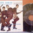 Discos de vinilo: LOS SONOR Y SU SUPER-TWIST - SOLE TWIST + 3 RCA VICTOR 3-20401 - EXCELENTE. Lote 105190051