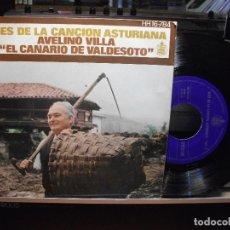 Discos de vinilo: EP AVELINO VILLA EL CANARIO DE VADESOTO ASES DE LA CANCION ASTURIANA VOL 3 ASTURIAS. Lote 105193843