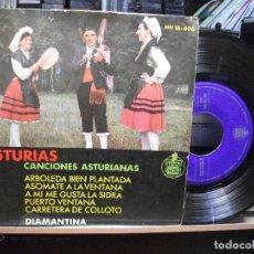 Discos de vinilo: EP CANCIONES ASTURIANAS DIAMANTINA RODRIGUEZ FOLKLORE ASTURIAS TONADA GAITA. Lote 105195439