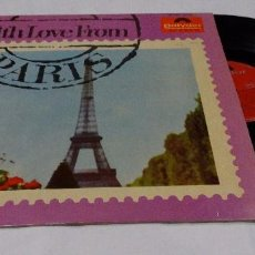 Discos de vinilo: WITH LOVE FROM PARIS LP 1964. Lote 105197631